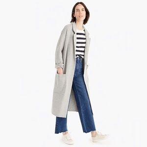 J. Crew Ella Long Gray Sweater Blazer Coat 2019